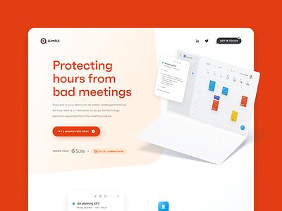 Aimful – Landing page website branding uidesign uxdesign webdesign web app landing page ux ui design