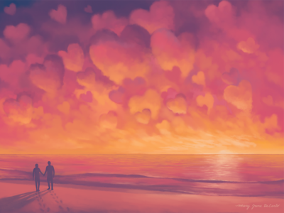 Valentine's Day Card: Sunrise