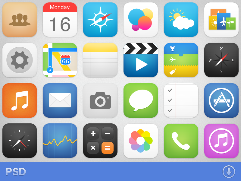 434343.com_iOS7 Icons by Michael Shanks on Dribbble