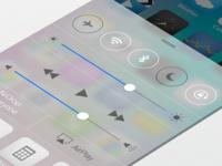 iOS7 Control Centre Concept