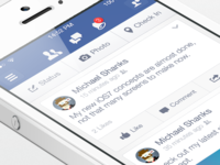 Facebook iOS7 - News Feed v1