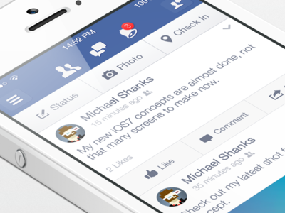 Facebook iOS7 - News Feed v2