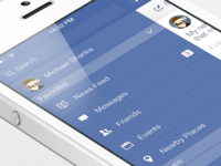 Facebook iOS7 - Left Menu