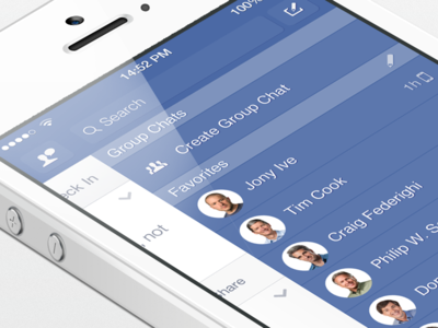 Facebook iOS7 - Right Menu