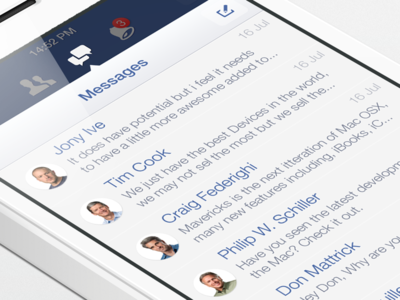 Facebook iOS7 - Messages