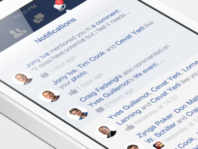 Facebook iOS7 - Notifications
