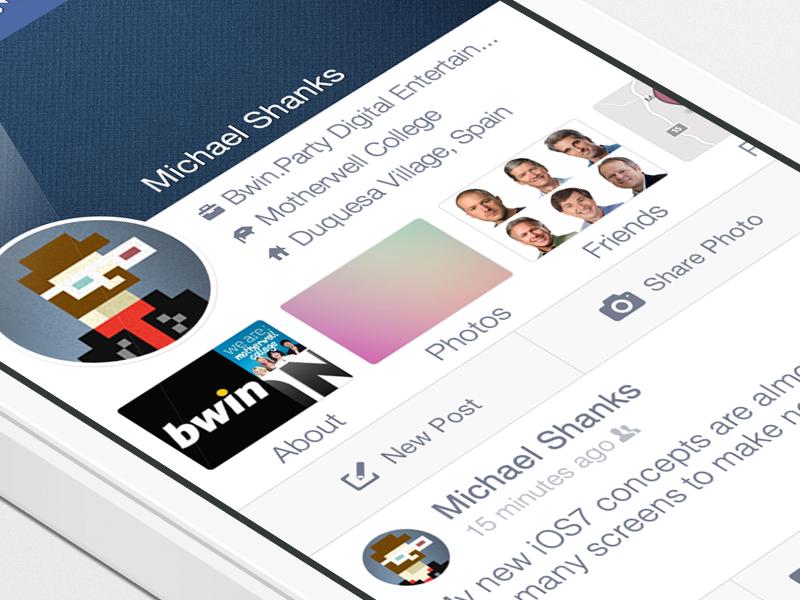 Facebook iOS7 - Timeline iphone ios7 facebook timeline newsfeed