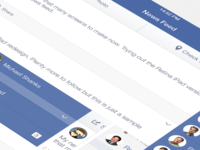 Facebook iOS7 - News Feed (iPad Retina)