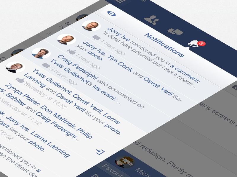 Facebook iOS7 - Callouts (iPad Retina) facebook ipad ios7 retina callouts friend requests messages notifications