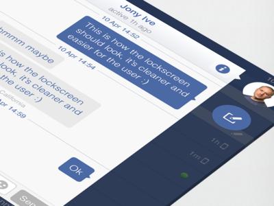 Facebook iOS7 - Chat (iPad Retina)