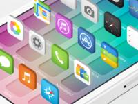 3D iOS7 Icons