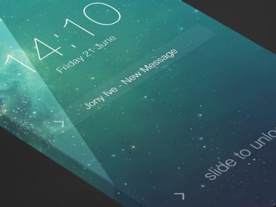 iOS7 - Lockscreen