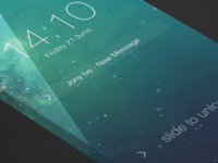 iOS7 - Lockscreen