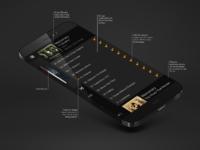 Ios7 music menu real pixels