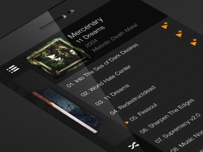 iOS7 - Music Menu