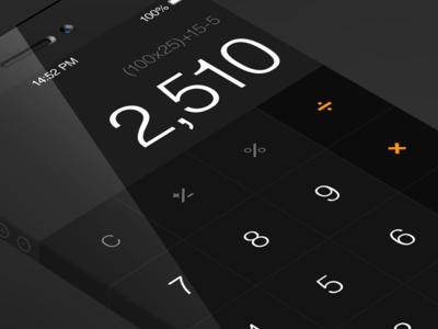 iOS7 - Calculator