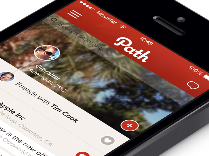 Home - Path iOS7 path home redesign ios7 iphone retina