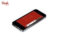 Path iphone5s menu