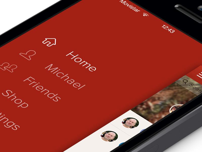 Menu - Path iOS7 menu retina iphone ios7 redesign home path