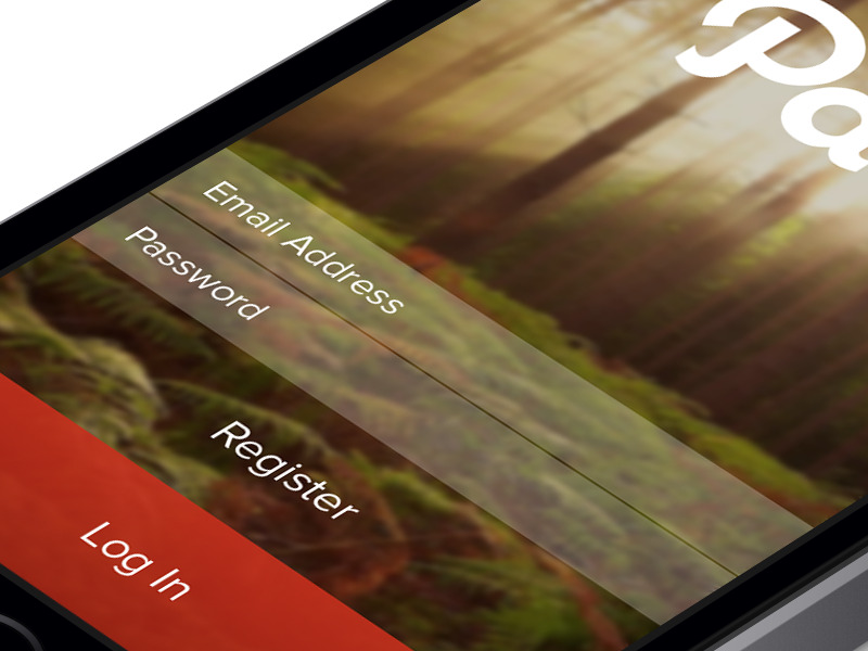 Log In - Path iOS7 path login redesign ios7 iphone retina