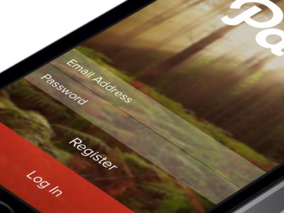 Log In - Path iOS7