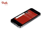 Path iphone5s menu messages