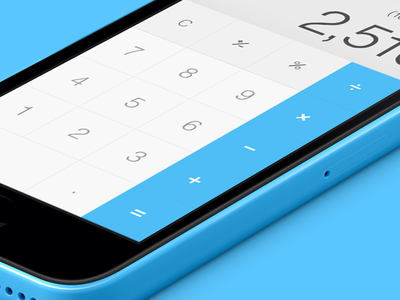 iOS7 - Calculator Colours ios7 calculator blue iphone5c