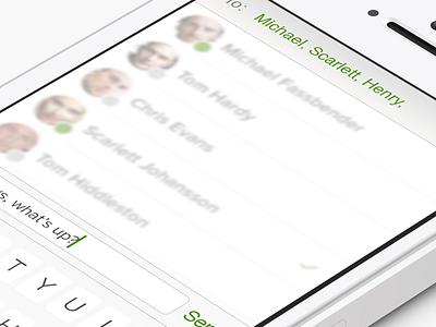 Memo - Compose Message app ios7 chat compose message memo
