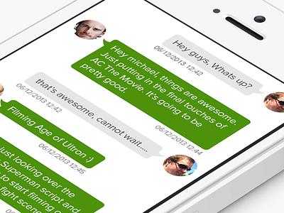 Memo - Conversation ios7 app conversaion memo chat bubble