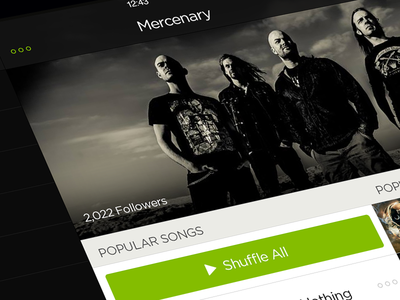 Spotify iOS7 - Artist spotify ios7 browse ipad retina genres music menu artist