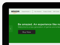 Amazon Web Redesign Concept amazon redesign web games products concept