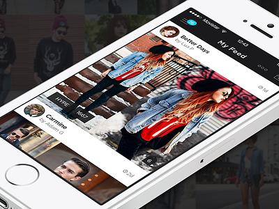 LOOKBOOK - iOS7 Redesign (Full) fashion lookbook clothing users personalised ios7 ios app iphone