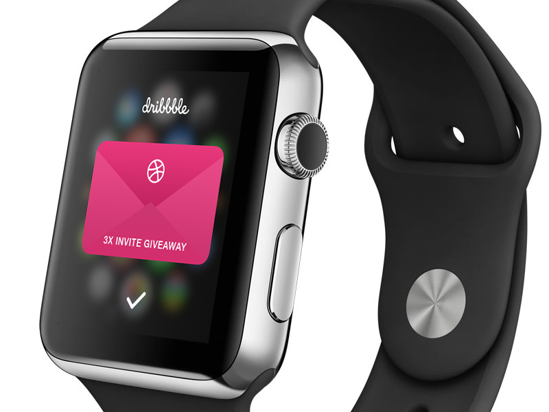 Dribbble Invite 6 dribbble invite 3 apple watch giveaway