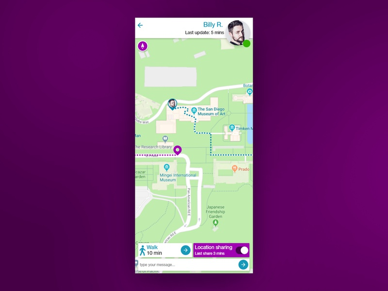 Location Tracker Mockup daily ui challenge daily ui 020 daily ui user interface daily 100 ui design