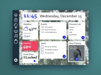 Smart Home Dashboard daily ui 021 daily ui challenge ux daily ui daily 100 user interface ui design