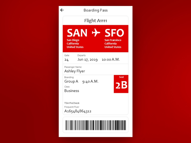 Boarding Pass daily ui challenge user interface ui design daily ui daily 100 daily ui 024