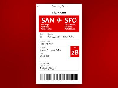 Boarding Pass daily ui challenge user interface ui design daily ui daily 100 daily ui 024