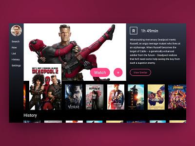Tv App movie app daily ui 025 daily ui challenge daily ui daily 100 user interface ui design