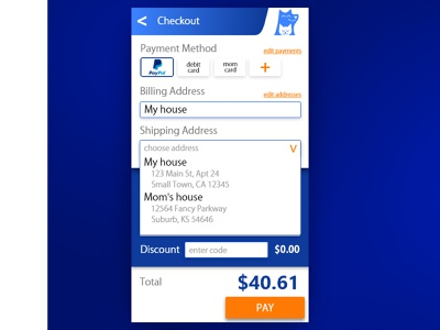Checkout Dropdown checkout ux daily ui challenge daily ui daily 100 user interface ui design