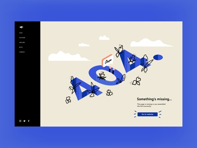 404 Page dribbbleweeklywarmup dribbble isometric illustration isometric colorful uiuxdesign ui  ux landing page 404page 404 affinitydesigner design vector illustration