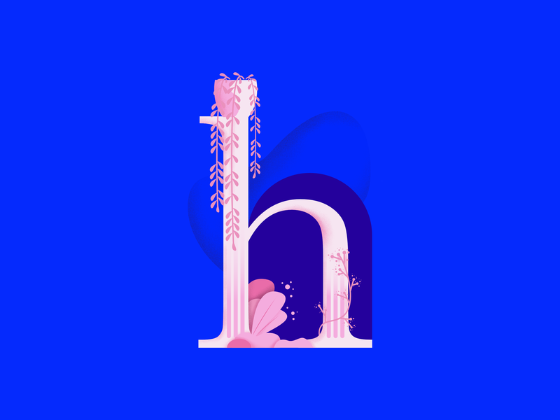 36daysoftype • H vector typography plants pastels minimal illustration flat design colorful affinitydesigner 36daysoftype-h 36daysoftype 2d art 2d