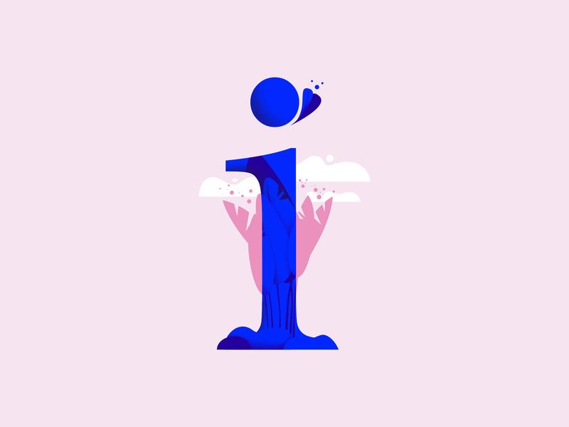 36daysoftype • I vector typography plants pastels minimal illustration flat design colorful affinitydesigner 36daysoftype-i 36daysoftype 2d art 2d