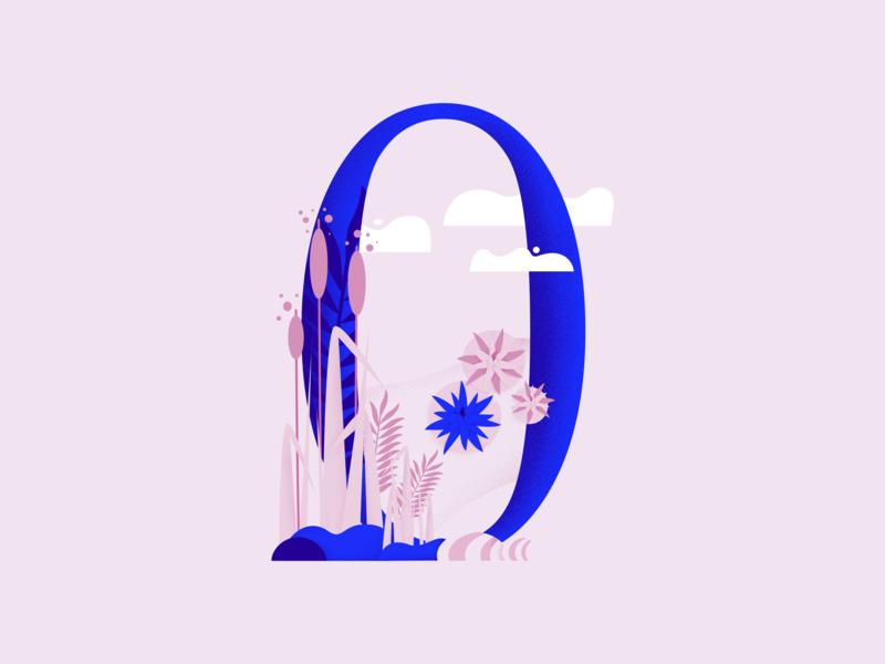 36daysoftype • 0 web cute color plants pastels minimal colorful typography flat design vector illustration affinitydesigner 36daysoftype00 36daysoftype-0 36daysoftype 2d art 2d