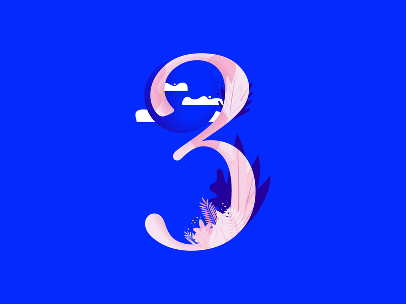 36daysoftype • 3 web cute color plants pastels minimal colorful typography flat design vector illustration affinitydesigner 36daysoftype-03 36daysoftype-3 36daysoftype 2d art 2d