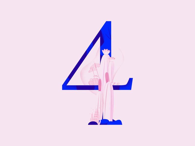 36daysoftype • 4 web cute color plants pastels minimal colorful typography flat design vector affinitydesigner illustration 36daysoftype04 36daysoftype-4 36daysoftype 2d art 2d