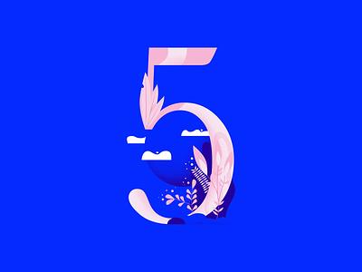 36daysoftype • 5 web cute color plants pastels minimal colorful typography flat design vector illustration affinitydesigner 36daysoftype-5 36daysoftype05 36daysoftype 2d art 2d