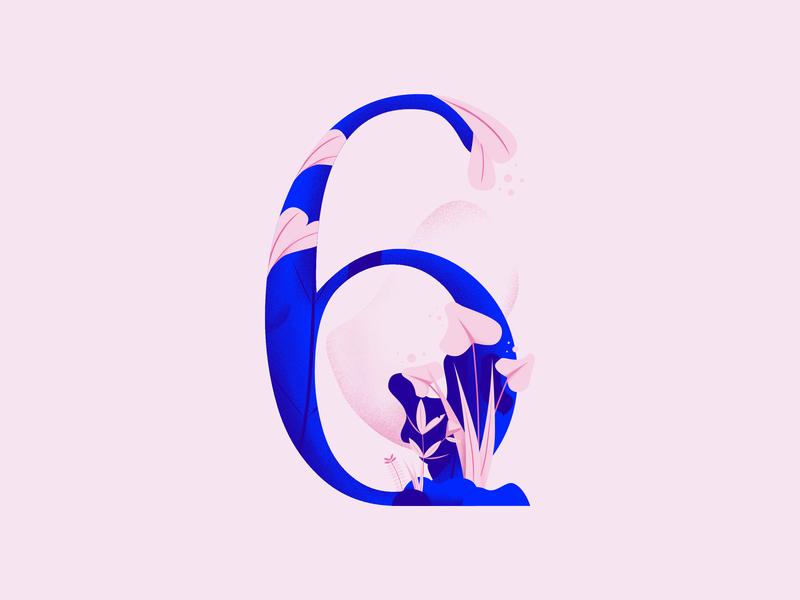 36daysoftype • 6 web cute color plants pastels minimal colorful typography flat design vector illustration affinitydesigner 36daysoftype-6 36daysoftype06 36daysoftype 2d art 2d