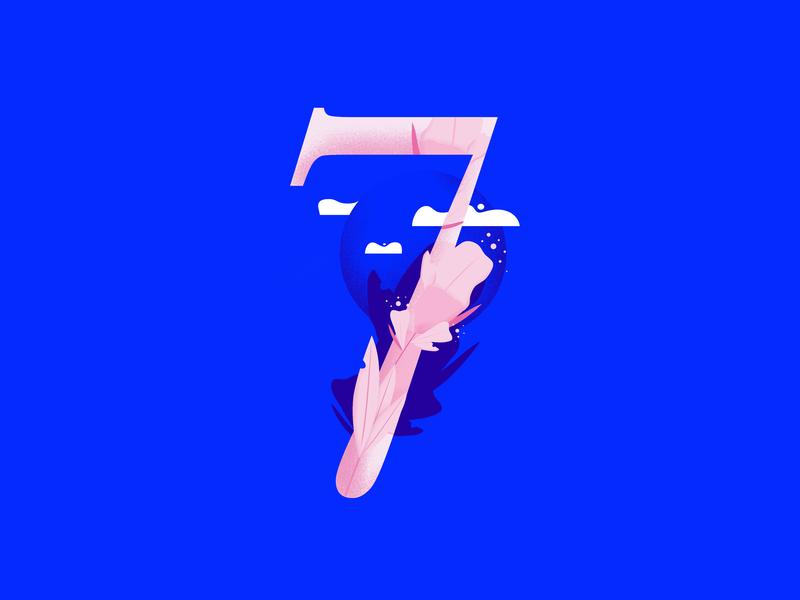 36daysoftype • 7 web cute color plants pastels minimal colorful typography flat design vector illustration affinitydesigner 36daysoftype-7 36daysoftype07 36daysoftype 2d art 2d