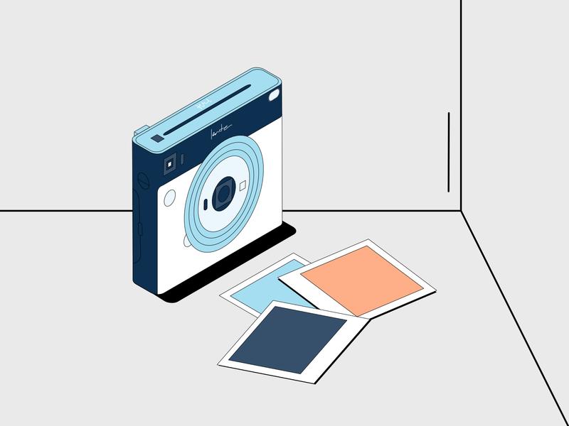 Instax Illustration isometric illustration isometric instagram stories fujifilm instax minimal pastels colorful branding 2d affinitydesigner design vector illustration