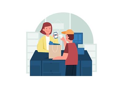 Cashless Payment [1] vectorillustration uiillustration flatillustration ui graphic affinity designer design vector illustration flat